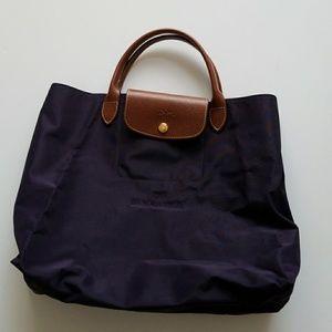 Longchamp Purple Le Plaige Cabas Tote Bag Purse